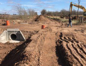 Avanzan las Obras Hídricas en el sur de la Provincia